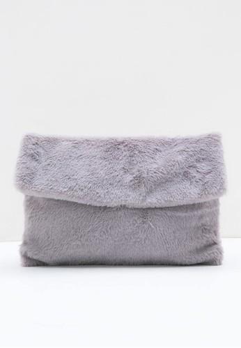 Berrybenka Label grey Jinia Octarina Fur Clutch Grey A8C43AC851FB7FGS_1