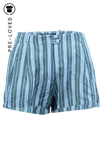 Reformation multi Pre-Loved reformation Striped Linen Shorts 41AE3AA7590C16GS_1