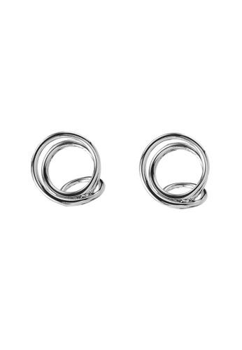 GLOBAL WORK grey Spiral Earrings B9883AC1034205GS_1