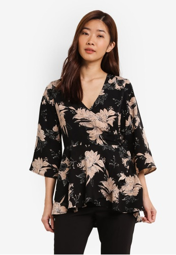 ZALORA black Wrapped Blouse A58A4AA3454FE0GS_1