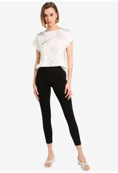 ee26b1dbef6b Dorothy Perkins Black Mock Fly Pull-On Skinny Pants S  53.90. Available in  several sizes