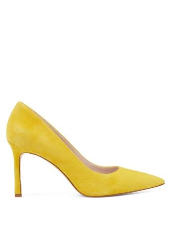 Nine West yellow NWEMMALA Pointy Toe Pumps 60B66SH79BFF88GS_1