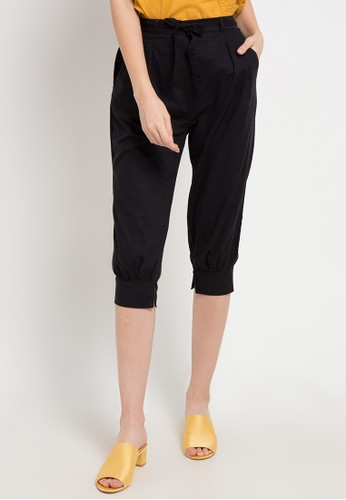 Ninety Degrees black Degrees 7/8 Pants CEEFFAA7DEDF56GS_1