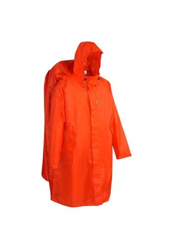 Decathlon Hiking Rain Poncho - 75 Size L/XL Red - 8302454 D93F7AA7987BB4GS_1