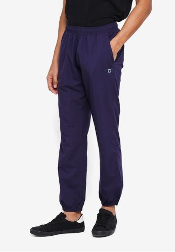 threads by the produce blue Taffeta Track Pants E50CAAA4033320GS_1