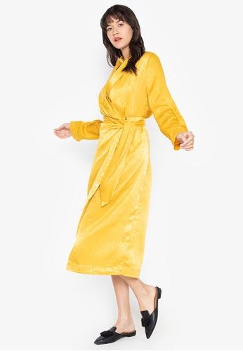 the___edit yellow Harper Wrap Maxi Dress 5A407AA6EAAB9CGS_1