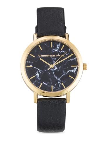 Brighton 35mm 大理石錶盤刻度esprit台灣outlet圓錶, 錶類, 飾品配件
