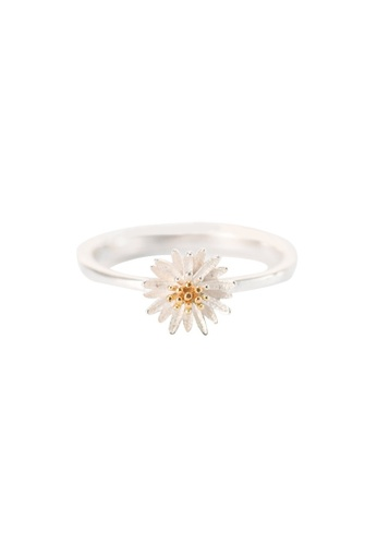 OrBeing 白色 Premium S925 Sliver Daisy Ring E6636AC3CDC9D4GS_1