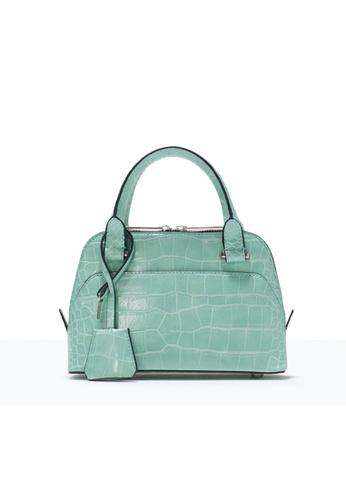 LULUGIFT green Lulugift Crocodile Pattern Mini Urban Leisure Shoulder Bag Green LU989AC0RANGMY_1