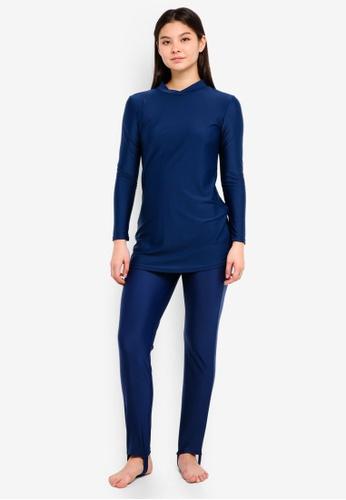 PINK N' PROPER navy Modest Saloma Muslimah Swimwear Set 0EB4EUS630FF47GS_1