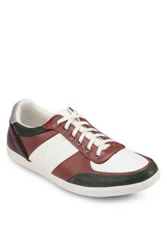 色塊仿皮繫帶運動鞋, 鞋, esprit地址休閒鞋