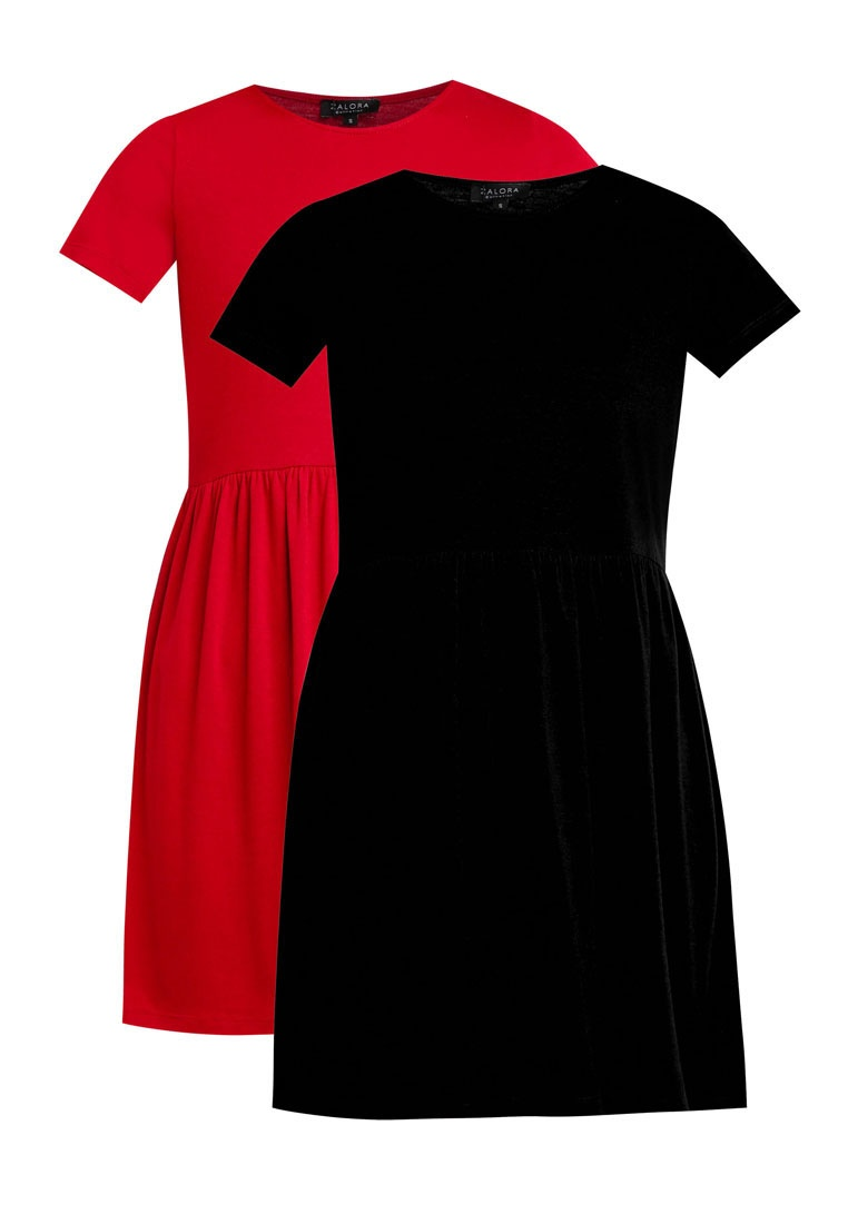 2 Baby Essential BASICS ZALORA Doll Dress Burgundy Pack Black RRUxfF