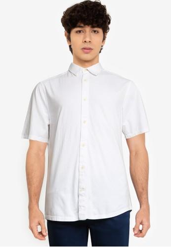 Only & Sons white Semir Short Sleeve Overshirt 6D8C9AA4A09E37GS_1