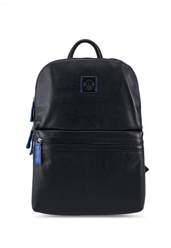Volkswagen black Embossed Logo Backpack F8F66ACD0257DCGS_1