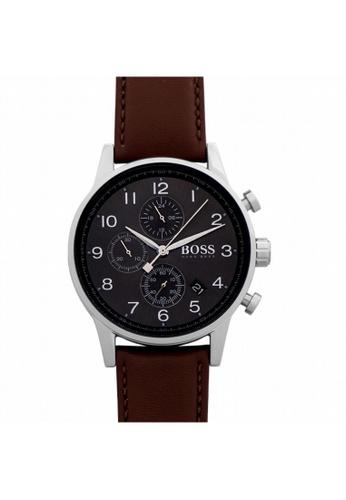Hugo Boss [NEW] Hugo Boss Hugo Boss Navigator Classic Black Dial Men's Chronograph Watch 44mm HB1513494 CF0C1AC0C6C1F4GS_1
