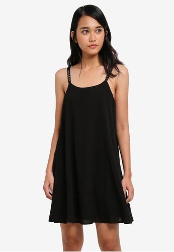 Something Borrowed black Embellished Strap Cami Dress F092FAAE43093FGS_1