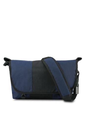 JAXON black and navy Nylon Messenger Bag EA2E9AC0C42BE3GS_1