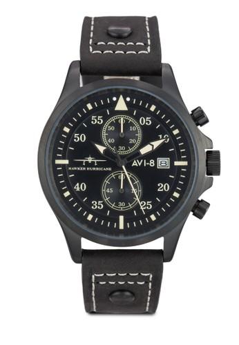 Hawker Hurriesprit twcane 多功能計時皮革手錶, 錶類, 飾品配件