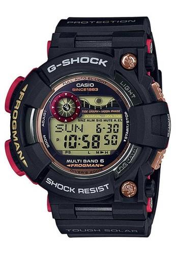 G-Shock black Casio G-SHOCK Jam Tangan Pria - Black Red - Resin - GWF-1035F-1DR Frogman D9347AC91214FBGS_1
