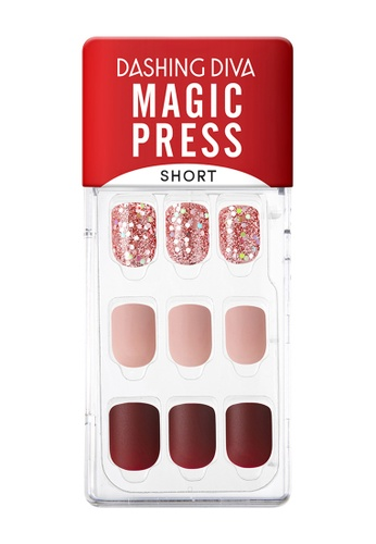 Dashing Diva red Dashing Diva 1 SEC. MAGIC PRESS Manicure(Short Size) Rose Shine / Press on Nails /Nail Tips EEC7FBE5781C4FGS_1