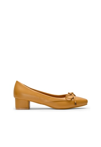 SEMBONIA brown SEMBONIA Synthetic Leather Court Shoe (Camel) F06FCSH082F4A0GS_1