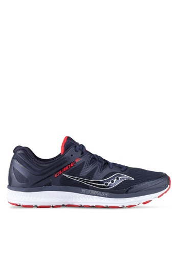 Saucony navy Guide ISO Running Shoes SA304SH0SW59MY_1