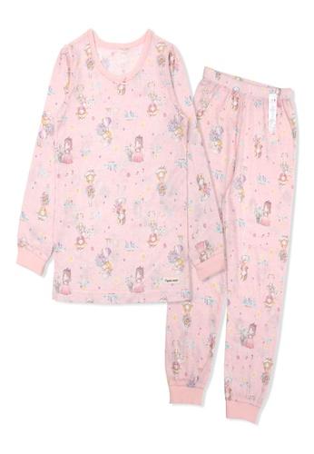 Organic mom pink Organic Cotton Elaine Girl Lightweight Long Sleeves Pjs 2C31BKA16D136FGS_1