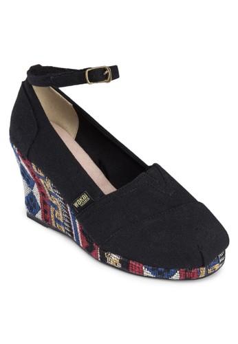 Fernanda  民族風編織zalora 心得楔形鞋, 女鞋, 楔形鞋