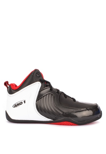 And1 black and multi Tsunami Basketball Shoes 5D3FDSHC4634BAGS_1