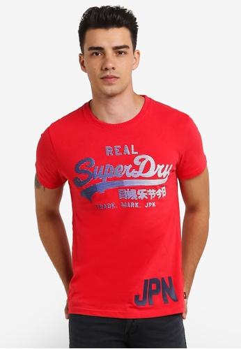 Superdry 紅色 Vintage Logo 1st Tee SU137AA0RIP3MY_1
