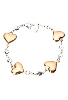 Love in Rose Gold Heart Bracelet