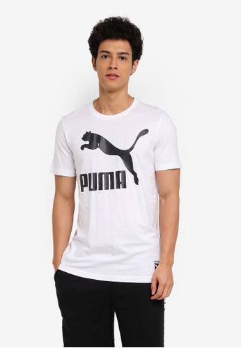 Puma white Archive Logo Tee PU549AA0SWGXMY_1