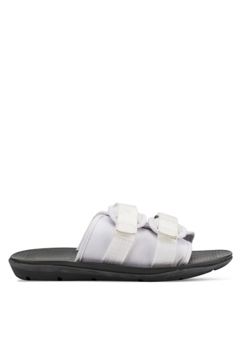 24:01 white Duo Strapped Pool Side Sandals EDC0CSHE7D7691GS_1