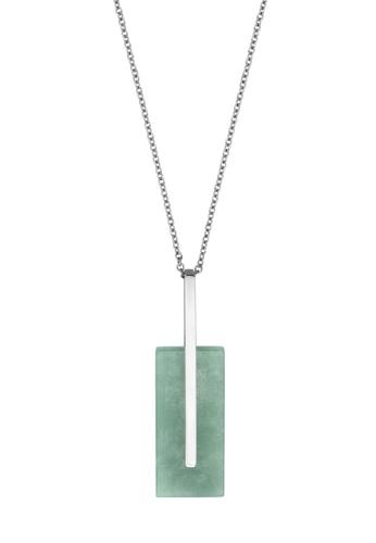 Esprit silver ESPRIT [Delight] Silver Stainless Steel Necklace (42 cm + 3 cm extension) 3509FACFB86B6FGS_1