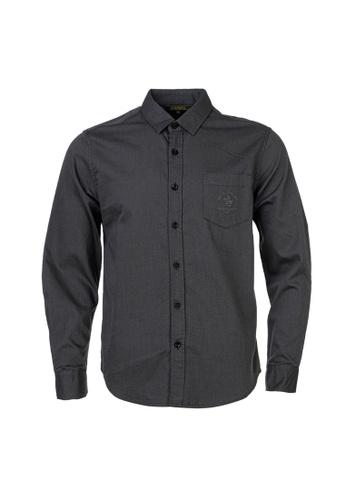 Santa Barbara Polo & Racquet Club grey SBPRC Long Sleeve Shirt 05-9405-88 03271AA184E2BCGS_1