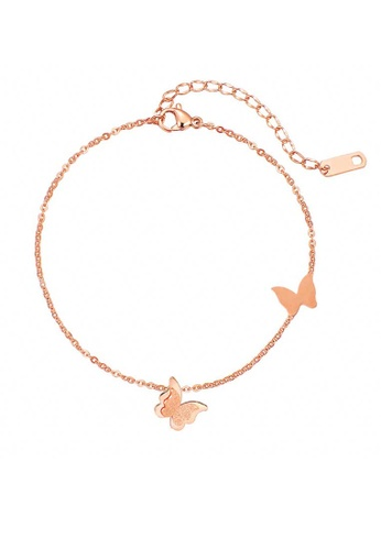 CELOVIS gold CELOVIS - Queen Alexandra Butterfly Anklet in Rose Gold BC51FACE2836B3GS_1