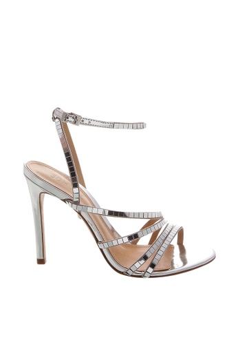SCHUTZ silver Silver Ankle Strap Sandal Heel - CHOLE [PRATA] EDC73SH5735B7EGS_1