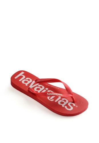 Havaianas red Top Logo Mania Flip Flops A49F6SH2CA6831GS_1