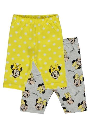 LC Waikiki yellow Minnie Mouse Printed Trousers 6C6F6KA812CF99GS_1