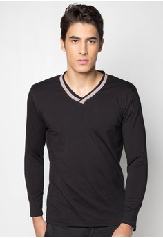 L/S Tee Jrsy with Con Rbbng-Vn