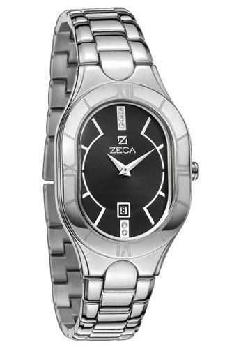 ZECA black and silver Zeca Watches Ladies Fashion Stainless Steel Analog - 157L Silver Black ZE260AC24SJJSG_1