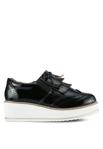 Something Borrowed black Tassel Platform Slip On Derby Shoes 793CDZZA2F9BC0GS_1