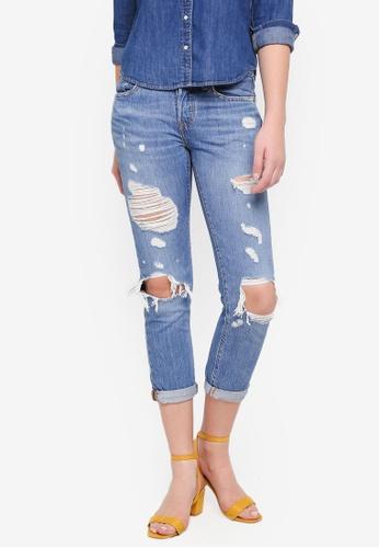 Levi's blue 501 Taper Jeans 49F3FAAB61F96DGS_1