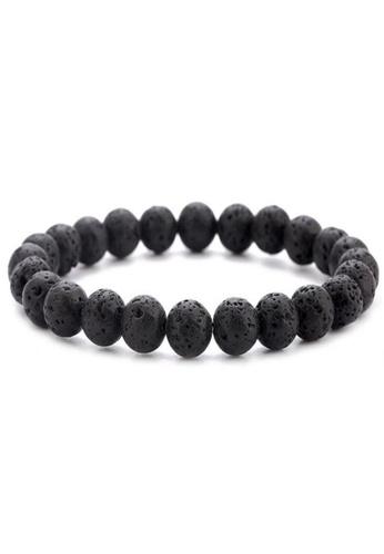 YOUNIQ black YOUNIQ Natural Lava Stone Diffuser Healing Beaded Bracelet (Black) 2E4B1ACF29B1A5GS_1