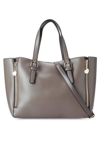 雙拉鍊仿皮手提包、 包、 包Perllini&Mel雙拉鍊仿皮手提包最新折價
