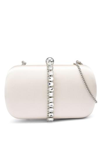 Forever New white Kalia Gemstone Clasp Clutch 736EBAC85B1F03GS_1