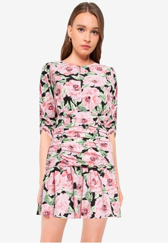 Miss Selfridge white Black Floral Mini Dress 59C7CAAEB22223GS_1