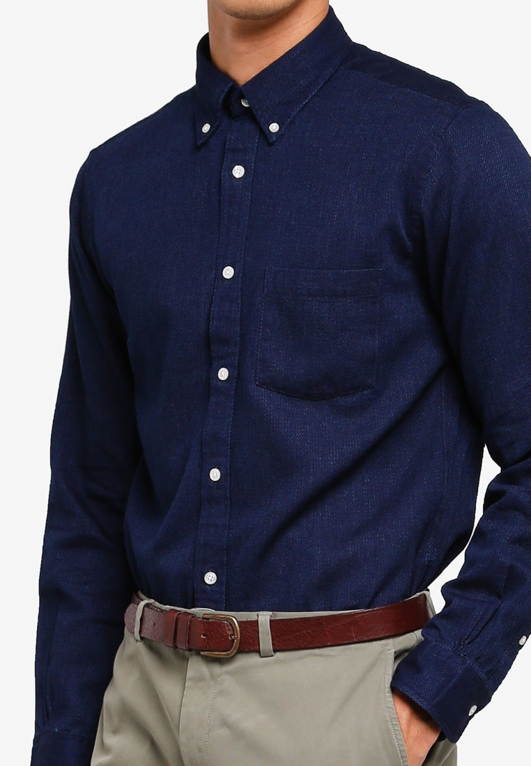 Dobbies Navy Fleece Brothers Shirt Texture Indigo Red Sport Brooks PpqREP