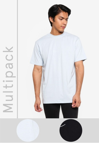 Mennace blue 2 Packs Essential Signature T-shirt 5AAB7AAA6392F6GS_1