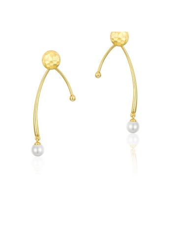 SUNSET 金色 Premium S925 Sliver Pearl Earring 0B5EFAC8342E52GS_1